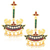 Sukkhi Designer Gold Plated Pearl Meenakari Chandelier Earrings For Women
