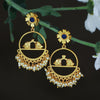 Sukkhi Dazzling Pearl Gold Plated Floral Dangle Earring For Women