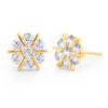 Sukkhi Gleaming Floral Stud Gold Plated Earring for women