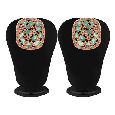 Sukkhi Trendy Square Shape Rose Gold Plated Stud for Women