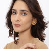 Sukkhi Pleasing Gold Plated Jalebi Stud Earring for Women