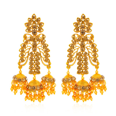 Sukkhi Spectacular Floral Gold Plated Earring for Women