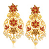 Sukkhi Lovely LCT Gold Plated Floral Pearl Chandelier Earring For Women