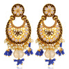 Sukkhi Eye-Catchy LCT Gold Plated Floral Pearl Chandelier Earring For Women