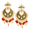 Sukkhi Brilliant LCT Gold Plated Floral Chandelier Earring For Women