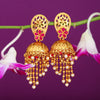 Sukkhi Lavish Floral Gold Plated Pearl Jhumki Earring For Women