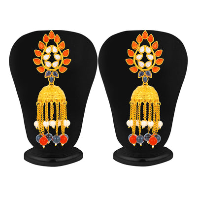 Sukkhi Incredible Gold Plated Kundan Chandelier Earring for Women