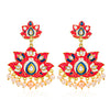 Sukkhi Modish Gold Plated Kundan and Pearl Dangle Earring for Women