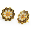 Sukkhi Charming LCT Gold Plated Floral Stud Earring For Women