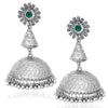 Sukkhi Gleaming Oxidised Floral Jhumki Earrings For Women