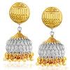 Sukkhi Spectacular Gold and Rhodium Plated Jhumki Earring For Women