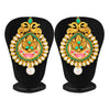Sukkhi Graceful Gold Plated Kundan Peacock Almond Earring for Women