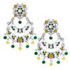 Sukkhi Beguiling Oxidised Kundan Chand Bali Earring for Women