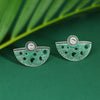 Sukkhi Sparkling Oxidised Mint Collection Stud Earring For Women