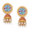 Sukkhi Dazzling Gold Plated Pearl Jhumki Earring for Women
