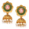 Sukkhi Glorious Gold Plated Meenakari Floral Jhumki Earring for Women