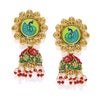 Sukkhi Modish Gold Plated Meenakari Jhumki Earring for Women