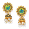 Sukkhi Sparkling Gold Plated Meenakari Jhumki Earring for Women