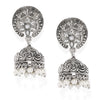 Sukkhi Pretty Kundan Oxidised Plated Pearl Jhumki Earring for Women