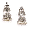 Sukkhi Antique Kundan Oxidised Plated Pearl Jhumki Earring for Women