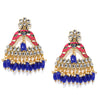 Sukkhi Lavish Kundan Gold Plated Meenakari Chandelier Earring for Women
