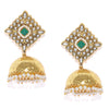 Sukkhi Luxurious Kundan Gold Plated Pearl Jhumki Earring for Women