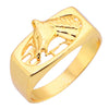 Sukkhi Exotic Gold Plated Horse Face Ring For Men