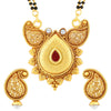 Sukkhi Astonish AD Gold Plated Mangalsutra Set for Women