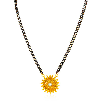 Sukkhi Lavish Gold Plated Floral Mangalsutra for Women
