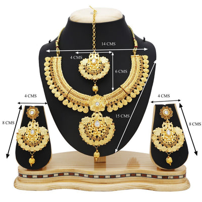 Sukkhi Modish Temple Gold Plated Necklace set For Women-4