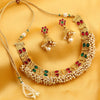 Sukkhi Bollywood Collection Reversible Delightly Red and Green Gold Plated Necklace Set for women