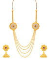 Sukkhi Classic 4 String Jalegi Gold Plated Necklace Set for women