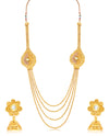 Sukkhi Beguiling 4 String Jalebi Gold Plated Necklace Set for women