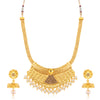Sukkhi Dazzling Gold Plated Jalebi Necklace Set for women