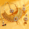 Sukkhi Trendy Jalebi Gold Plated necklace set for women