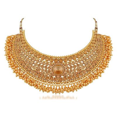 Sukkhi Bollywood Collection Traditional Gold Plated Kundan Choker Necklace Set for Women