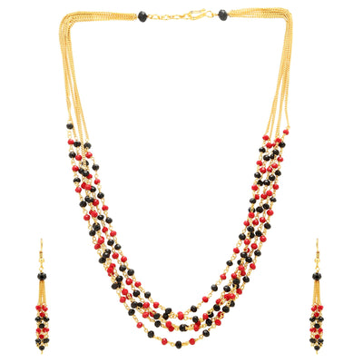 Sukkhi Bollywood Collection Astonish Gold Plated Multicolour Necklace Set For Women