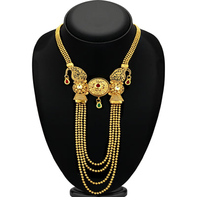 Sukkhi Bollywood Collection Classy String Gold Plated Necklace Set for women
