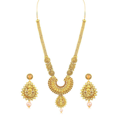 Sukkhi Marvellous Long Haram Gold Plated Necklace Set