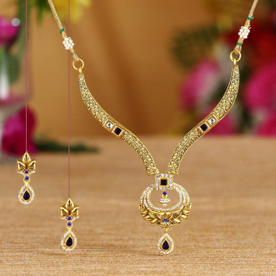 Sukkhi Bollywood Collection Blossomy Gold Plated Necklace Set For Women