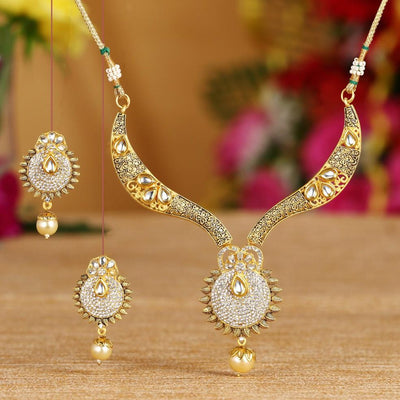 Sukkhi Bollywood Collection Traditional Gold Plated Necklace Set For Women