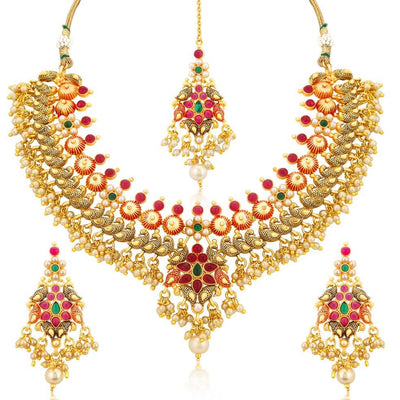 Sukkhi Trendy Gold Plated Necklace Set For Women