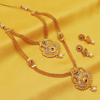Sukkhi Bollywood Collection Trendy Gold Plated Necklace Set For Women