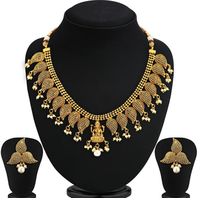Sukkhi Bollywood Collection Blossomy Gold Plated Temple Necklace Set For Women