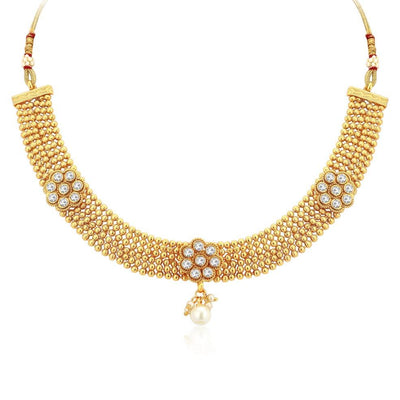 Sukkhi Blossomy Gold Plated Necklace Set For Women