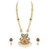 Trushi Peacock Designer Long Necklaces Set For Women
