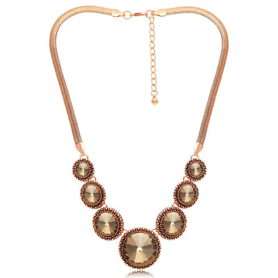 Sukkhi Brilliant Gold Plated Round Shaped Necklace for Women