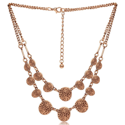 Sukkhi Cluster Rose Gold Round Shaped Fancy Necklace for Women