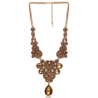 Sukkhi Pleasing Gold plated filigree design collar necklace for women