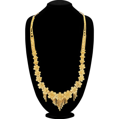 Sukkhi Trendy Gold plated Rani Haar Necklace Set for Women